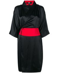 Karl Lagerfeld - Obi Belted Kimono Dress - Lyst