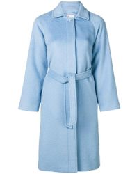 RED Valentino - Belted Single Breasted Coat - Lyst