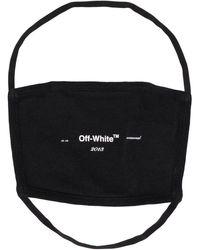Off-White c/o Virgil Abloh Masque à logo imprimé - Noir
