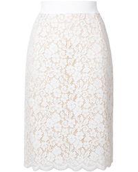 Dolce & Gabbana - レーススカート - Lyst