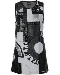 KTZ パッチワーク ミニドレス - ブラック