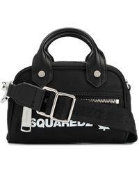 DSquared² Logo Print Tote - Black