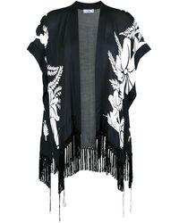 Amir Slama Floral Print Kimono - Black