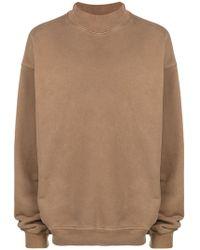 Yeezy Oversized High Neck Sweatshirt - Brown