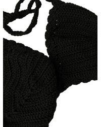 Tom Ford Knitted Logo-patch Bikini - Black
