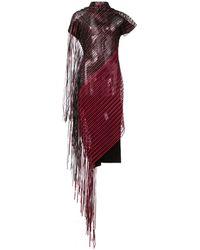 Paula Knorr - Sheer Fringed Dress - Lyst