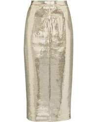 ANOUKI Disco Ball Midi Pencil Skirt - Metallic