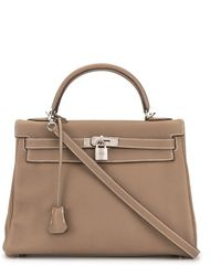 Hermès Borsa tote Kelly 32 Pre-owned - Marrone