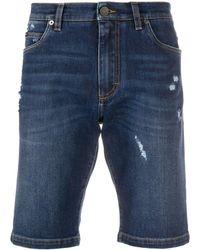 Dolce & Gabbana Schmale Jeans-Shorts - Blau