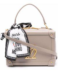 Love Moschino - ロゴプレート ハンドバッグ - Lyst