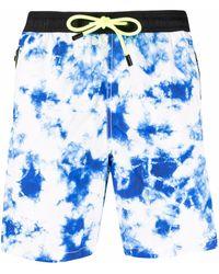 Mc2 Saint Barth Shorts con fantasia tie dye - Blu