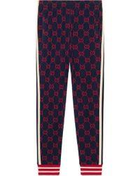 Gucci - Pantalones joggers de jacquard GG - Lyst
