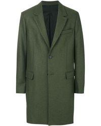 AMI Einreihiger Mantel - Grün