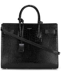 Saint Laurent Маленькая Сумка-тоут Sac De Jour - Черный