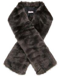 Urbancode - Oversized Faux Fur Scarf - Lyst