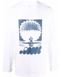 OAMC Trance Long-sleeve T-shirt - White