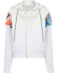 Emilio Pucci Abstract Print Hoodie - White