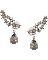 Oscar de la Renta - Crystal Star Earrings - Lyst
