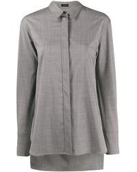 JOSEPH Рубашка С Потайной Застежкой - Серый