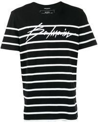 Balmain - ストライプ Tシャツ - Lyst