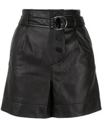 Yves Salomon - Belted Leather Shorts - Lyst