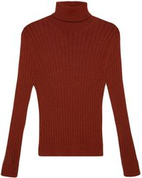 Gucci Ribbed-knit Long-sleeve Sweater - Red