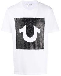 True Religion テクスチャード プリント Tシャツ - ホワイト