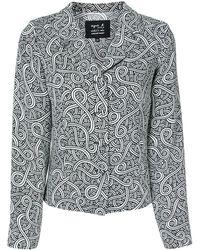 agnès b. Рубашка С Абстрактным Принтом - Черный