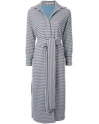 Silvia Tcherassi Checked Belted Trench Coat - Blue