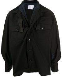 Sacai - オーバーサイズ シャツジャケット - Lyst