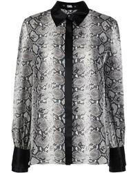 Karl Lagerfeld Блузка Со Змеиным Принтом - Черный