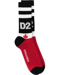 DSquared² - D2 Embroidered Socks - Lyst