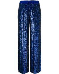 P.A.R.O.S.H. Pantaloni con paillettes - Blu
