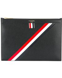 Thom Browne - Striped Detail Pouch - Lyst