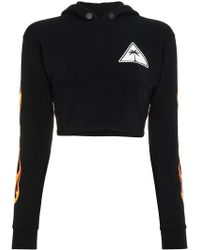 Palm Angels - Flame Cropped Hoodie - Lyst