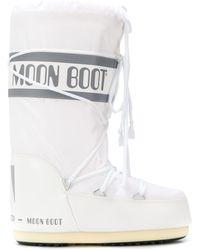 Moon Boot Сапоги Со Шнурками И Логотипом - Белый