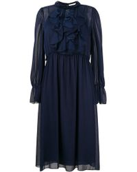 See By Chloé - Frilly Midi Dress - Lyst