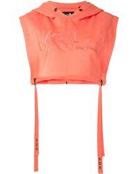 Haculla Signature Cropped Hoodie - Orange
