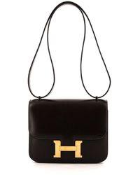 Hermès Borsa Constance Pre-owned mini - Marrone
