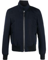 Tom Ford ハイネック ボンバージャケット - ブルー