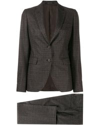 Tagliatore Two-piece Trouser Suit - Brown