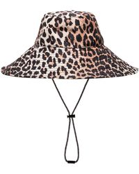 Ganni Cappello bucket con stampa - Marrone