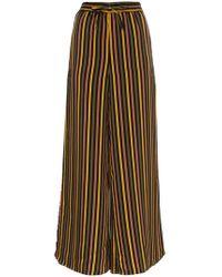 Onia - Chloe Striped Wide Leg Trousers - Lyst