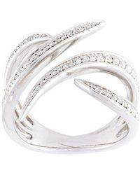 Eshvi - Diamond Fang Ring - Lyst