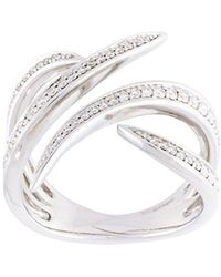 Eshvi - Diamond Fang Ring - Lyst