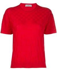 Pringle of Scotland チェッカー ニットtシャツ - ピンク