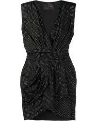 John Richmond Rhinestone-embellished Cocktail Dress - Black