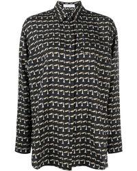 Christian Wijnants Tessa Abstract-print Shirt - Black