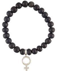 Loree Rodkin | Beaded Diamond Charm Bracelet | Lyst