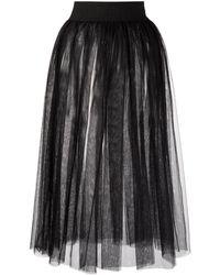 Marchesa notte Noa Tiered Tulle Skirt - Black